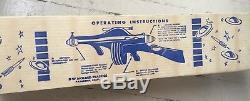 Vtg 1950s Plastic TOMMY RAY Automatic SPACE GUN with Box NICE CONDITION