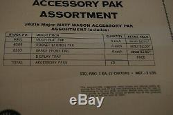 Vtg 1966 Mattel Matt Mason Accessory Pak Retail Store Display Tray & List Rare