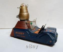 Vtg Nomura Japan Tin Toy Robby Robot Space Patrol Battery Operated