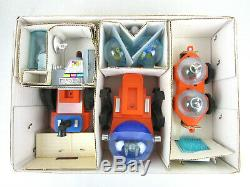 Vtg Outer SPACE SAFARI Battery PLAYSET Toy Alien Monster Astronaut Ship Miniflex