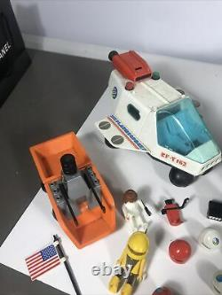 Vtg Playmobil Space Station 3 Vehicles Astronauts Accessories Rare Lot Huge