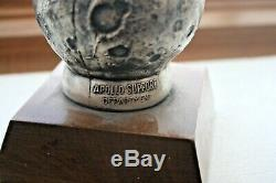 Vtg ZD NASA Apollo Support Program Zero Defect Statue Trophy Astronaut Figure