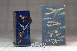 Wind Up Vintage Tin Space Toy Sputnik Tinplate Clockwork Mint Box 1959 (video)