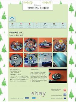 X-7 SPACE EXPLORER SHIP 1960s MASUDAYA Modern Toys Vintage Working Tin Toy Japan
