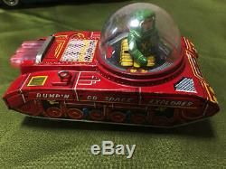 YOSHIYA Tin Toy BUMP'N GO SPACE EXPLORER Vintage Rare From JAPAN F/S