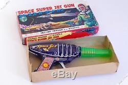 Yoshiya Ko Cragstan Horikawa Space Super Jet Raygun Tin Robot Japan Vintage Toy